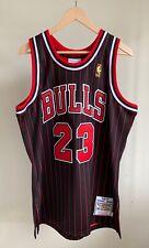 Mitchell & Ness Michael Jordan Bulls 96-97 Authentic Striped Jersey Sz 44/L NWT