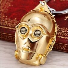 2016 New Starwars C3PO Golden Keyring Key Chain