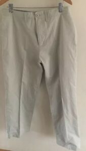 Mens Trousers Quiksilver W34 L30 Stone Cotton Mix Stone Chinos <T16727z