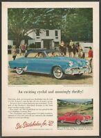 1952 STUDEBAKER Commander  V-8 Starliner -1952  Vintage Automotive Print Ad