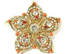 NIB Jewelry of Legends Collection-Marilyn Monroe Inspired Crystal Flower Brooch