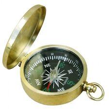 Kleiner Taschen Kompass - Messing - Mit Ring - sc-9241