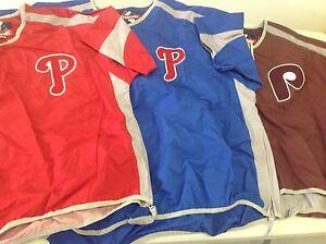 PHILADELPHIA PHILLIES MAJESTIC MLB SHORT SLEEVE PULLOVER LIGHT    FREE SHIPPING!