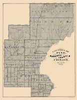 Kanabec Isanti Chisago Counties Minnesota  - Andreas 1874 - 23.00 x 29.81