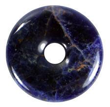 Sodalita Azul Donut Colgante Gema 40mm Piedra de Cristal Pi Curativa