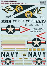 Print Scale 48-147 Decal for F-4 Phantom MIG Killers Vietnam War Part-1 1:48