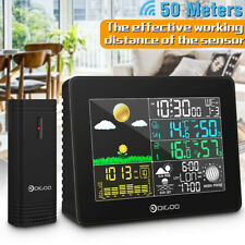 Wireless Weather Station DIGOO LCD Thermometer Barometer Humidity Indoor Outdoor