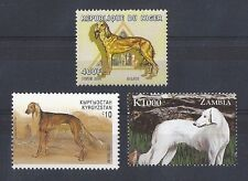 Dog Art Postage Stamp Collection 2 Saluki Full Body Studies 3 Different Mnh