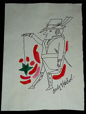 "Andy Warhol Male Figure ""Leprechaun with yo-yo"" ca 1953 - Ink wash 3rd stade-COA"