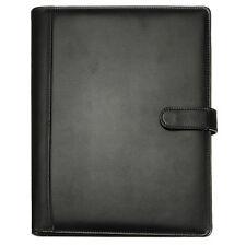 Black A4 Executive Conference Folder Portfolio PU Leather Document Organiser DT