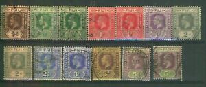FIJI Selection of King George V Used Stamps on Stockcard