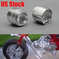 2X Aluminum Front Fork Boots Caps For Honda Z50A Mini Trail ST70 CT70 1969-1971