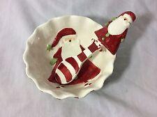 Mud Pie Christmas Santa Dip Bowl & Matching Scoop icecream bowl holiday server