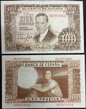 @NUMISMATICA BILBAO@ ESPAÑA 100 PESETAS 7 ABRIL 1953 JULIO ROMERO DE TORRES SC-