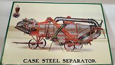 Case Threshing Machine Metal Sign