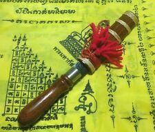 MEED MOR TALISMAN THAI AMULET DAGGER KNIFE SWORD SHAMAN  BUDDHA WOOD LOVE LEKLAI