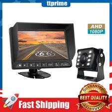 HD Backup Camera System 7'' 1080P Reversing Monitor Waterproof Night Vision