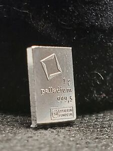 1 gram Palladium Bar - Valcambi Suisse - Purity 999.5
