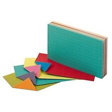 Oxford Extreme Index Cards 3 X 5 Inches Assorted Colors 100 Per Pack 04736