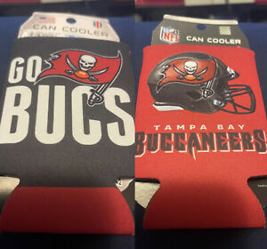 Tampa Bay Buccaneers 2-Sided Can Koozie. Slogan  12OZ Can. NFL Wincraft