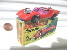 Lesney Matchbox 1971 MB4B RED GRUESOME TWOSOME Cream Interior C9.5 NuMINT Boxed