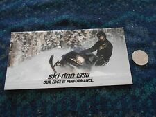 New listing 1990 Ski-Doo Mach 1 & Full Line Snowmobile Brochure Formula Plus Elan Alpine Ii