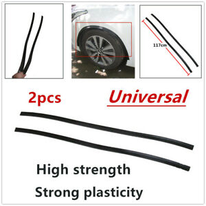 "2PCS 46"" Rubber 3D Car Wheel Eyebrow Arch Trim Lips Fender Flares Protector Kit"