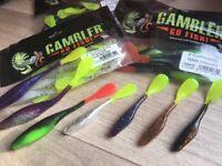 Walleye Bass Gambler 4 inch Super Tube Fishing Lure // Pack Of 10 Soft Plastic