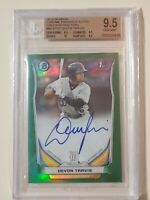 2014 Bowman Chrome Green Refractor Devon Travis RC (BGS 9.5 Gem Mint) AUTO 10
