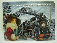 """Blechschild, Werbeschild """"Sternquell- Weihnachtsbier"""" mit Thermometer , Sammler"""