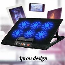 """Ares N8 Laptop Cooler Cooling Pad Anti-slip 6 Fans for 15.6"""" 17"""" Notebook Mac"""