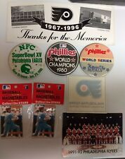 Philadelphia Phillies Flyers Eagles Magnets 1980 World Series Pins Buttons More