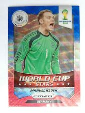 Stars # 17 Manuel Neuer Germany Red Blue card 2014 Panini Prizm WORLD CUP