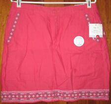 Croft & Barrow Women's Skorts NWT Size 10 Pink Mid-Rise