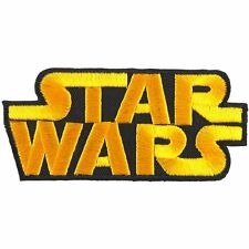 """Star Wars Embroidered Logo patch Iron Sew on backing 3.5 x 1.5"""""""