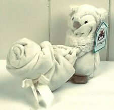 Jellycat Bashful Owl Soother Off White/Cream Beige Security Blanket Lovey NEW