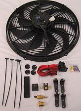 "16"" Electric Fan 3000 CFM + Wiring Install Kit Complete Thermostat 60 Amp Relay"