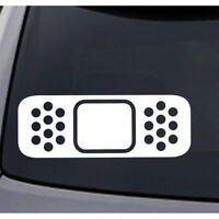 Universal for Car Auto Vehicle Funny Bandage Band-Aid Vinyl Sticker Decal White