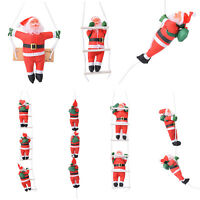 Christmas Hanging Santa Claus Toy Climb On Rope Ladder Xmas Tree Home Decoration