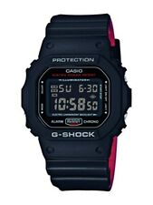 Casio G-Shock * DW5600HR-1 Digital Square Heritage Red and Black Resin Watch