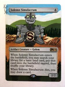 Solemn Simulacrum - Hand Painted MTG Alter - Magic - Kate Cart Art
