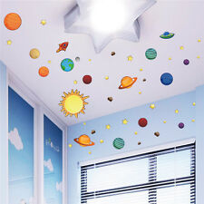 Solar System Planets Wall Stickers Decal Educational Nursery Decor Kids Art