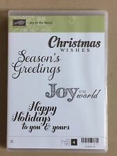 Stampin Up 'Joy to the World' set of 4 clearmount stamps