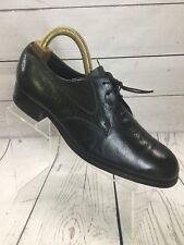 Florsheim Black Leather Oxfords Plain Toe Lace Up Shoes 10 D