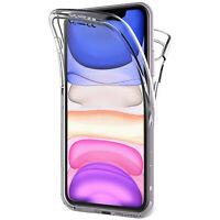 Cover Per iPhone 11 Pro Max Fronte Retro 360 Custodia Trasparente Silicone Slim