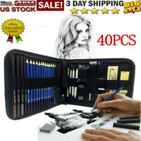 40PC Professional Drawing Artist Kit Set Pencils and Sketch Charcoal Art Tools