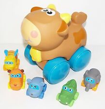 Playskool Wheel Pals Tracks Movable Critter Cow 5 Small Animals Elephant Bundle