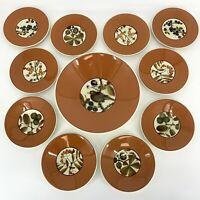 Rare Royal Copenhagen Aluminia Set 10 Plates Serving Bowl Autumn Nils Thorsson
