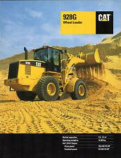 Caterpillar 928G Wheel Loader Excavator 1996-97 UK Market Sales Brochure