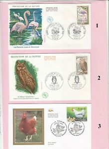oiseaux enveloppes 1er jour carte maximum timbre  à choisir